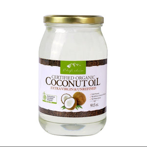 Chef's Choice Organic Coconut Oil Extra Virgin & Unrefined 915ml