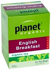 Planet Organic English Breakfast Tea 25 bags/50g