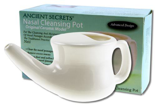 Ancient Secrets Nasal Cleansing Neti Pot (Ceramic)