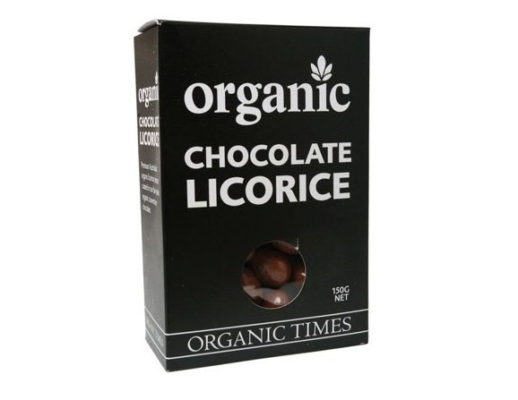 Organic Times Milk Chocolate & Licorice 150g