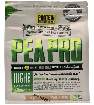 Protein Supplies Australia Pure Pea Protein Isolate Vanilla 1kg