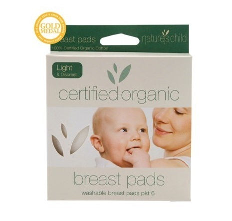 Nature's Child Organic Light Washable Breast Pads 6 pack