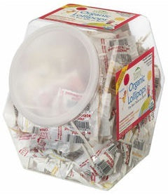 Yummy Earth Organic Lollipops Counter Tub Assorted 854g (125+ lollipops)