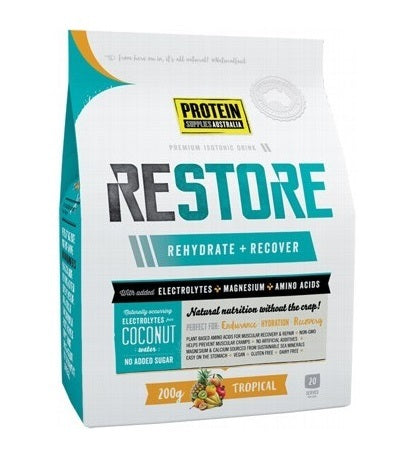 Protein Supplies Australia Restore Tropical 200g