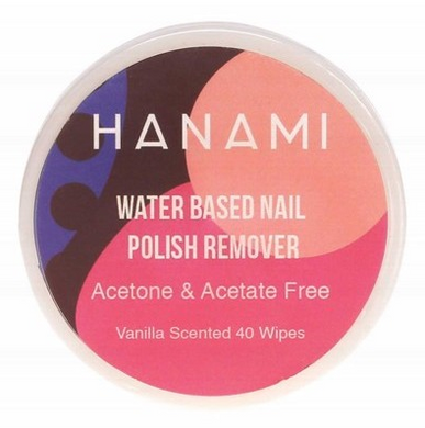 Hanami Water Based Nail Polish Remover Wipes x 40