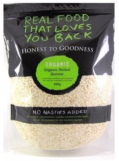 Honest To Goodness Organic Rolled Flaked Quinoa 600g