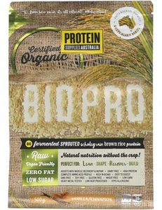 Protein Supplies Australia Bio Pro Sprouted Vanilla Cin Rice Protein Powder 500g