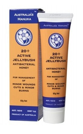 Australia's Manuka Honey (Wound Care) Active Jellybush 20+ ULF 60g