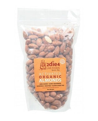 2Die4 Live Foods Activated Organic Australian Almonds 300g