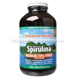 Green Nutritionals Spirulina (500mg) 1000 Tabs