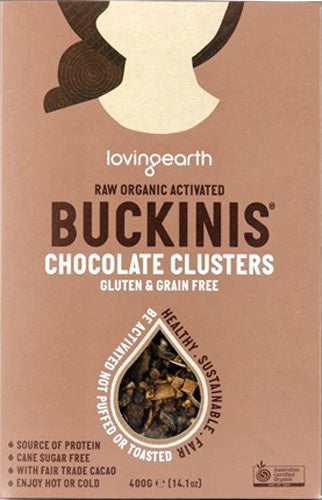 Loving Earth Raw Organic Activated Buckinis Choc Clusters 400g