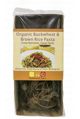 Nutritionist Choice Organic Brown Rice & Buckwheat Pasta 180g