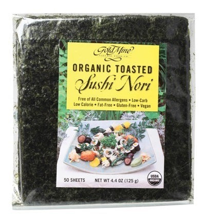 Gold Mine Sushi Nori Organic Toasted (50 Sheets) 125g