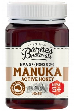 BARNES NATURALS Manuka Active Honey NPA5+ (MGO 83+) - 500g