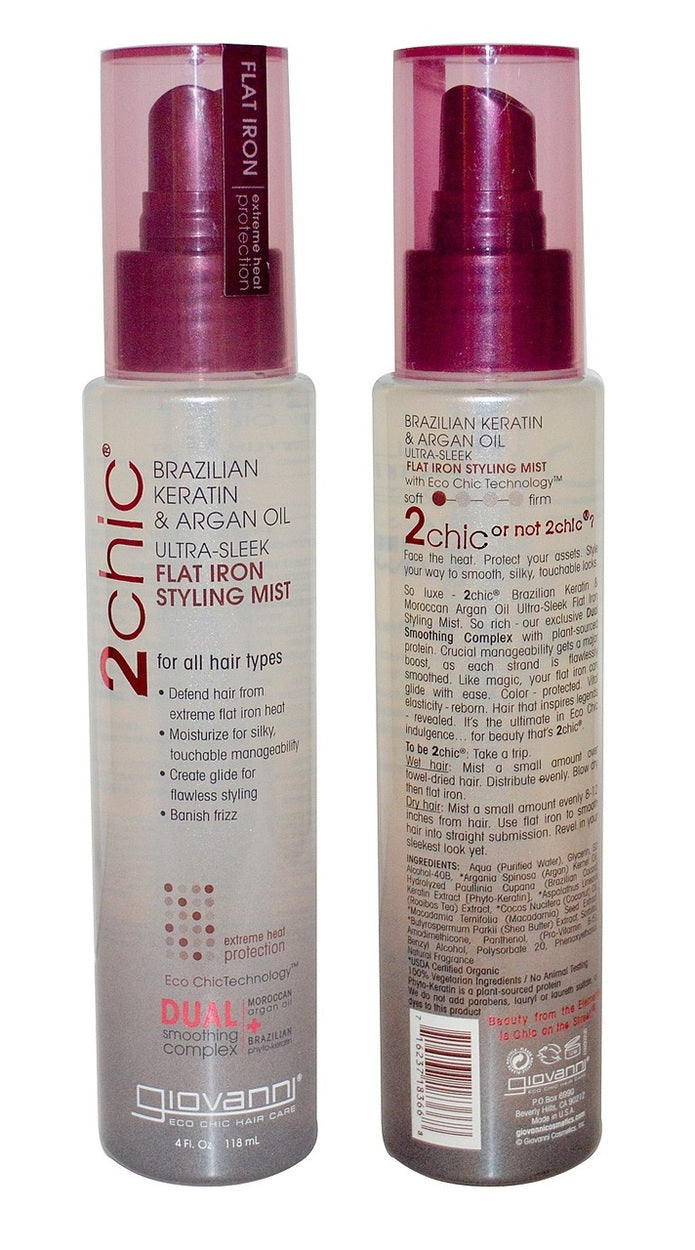 Giovanni  Brazilian Keratin & Argan Oil Flat Iron Styling Mist 118ml