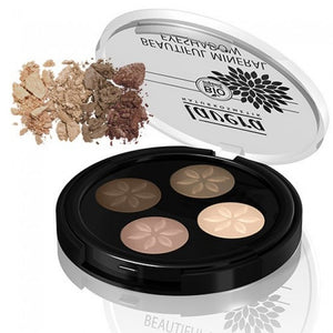 Lavera Beautiful Mineral Eyeshadow Quattro - Cappuccino Cream 02 3.2g (FREE SHIPPING)