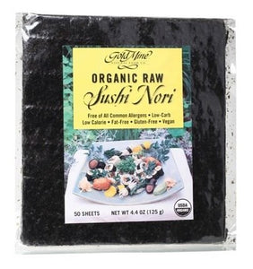 Gold Mine Sushi Nori Organic Raw (50 Sheets) 125g