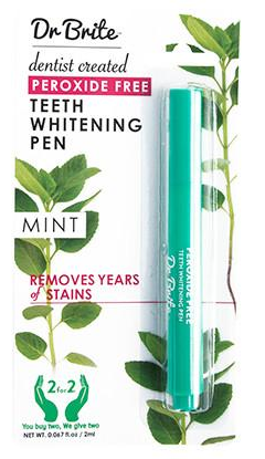 Dr Brite Natural Teeth Whitening Pen Peroxide Free - Mint 2ml