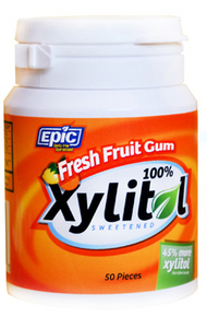 Epic Fresh Fruit Xylitol Chewing Gum - 50 pieces