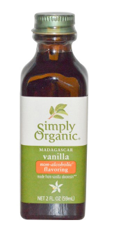 Simply Organic Vanilla Flavouring (Alcohol Free) 59ml