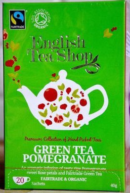 English Tea Shop Green Tea Pomegranate 20bags