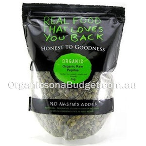 Honest To Goodness Organic Pepitas Raw 1KG