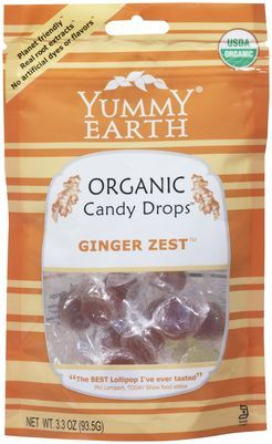 Yummy Earth Organic Ginger Zest Drops 93g