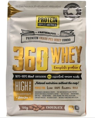 Protein Supplies Australia 360 Whey Chocolate 500g