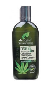 Dr Organic Hemp Shampoo Conditioner (2 In 1) 265ml