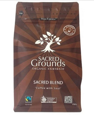 Sacred Grounds Organic Fairtrade Coffee Grounds (Plunger) 250g