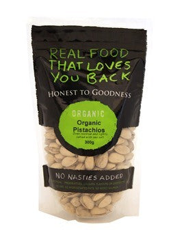 Honest To Goodness Organic Pistachio Oven Roasted & Lightly Salted 300g