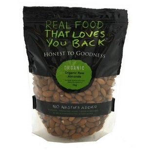 Honest To Goodness Certified Organic Raw Almonds 1kg