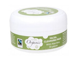 Simply Gentle Organic Facial Cleansing with Aloe Vera Pads 30