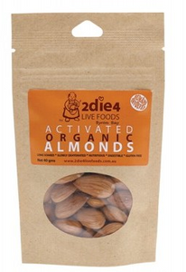 2die4 Live Foods Activated Organic Almonds - 40g
