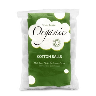 Simply Gentle Organic Cotton Balls 100 pack