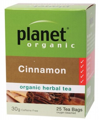 Planet Organic Herbal Tea Bags Cinnamon 25 bags