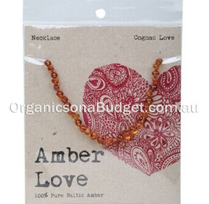 Amber Love Honey Cognac Necklace 33cm (FREE SHIPPING)