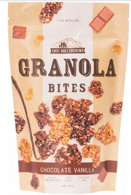 East Bali Cashews - Granola Bites Chocolate Vanilla 150g
