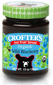 Crofters Just Fruit Spread Organic Wild Blueberry- 283g