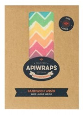 Apiwraps Reusable Beeswax Wraps - Sandwich - 1 x Large