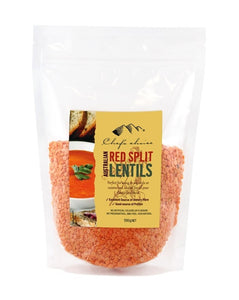 Chef's Choice Australian All Natural Red Split Lentils 500g