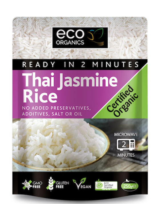 Absolute Organic Pre-cooked Thai Jasmine Rice 250g