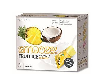 Smooze Fruit Ice Pineapple & Coconut 8x65ml