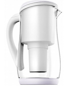 Ecobud Gentoo Glass Jug White 1.5L
