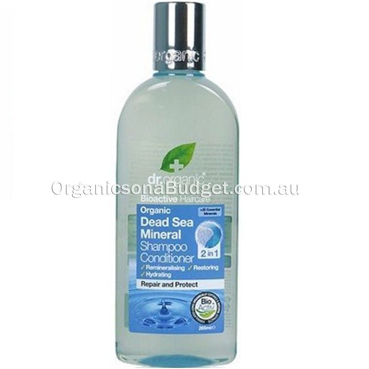 Dr Organic Dead Sea Mineral 2-in-1 Shampoo & Conditioner 265ml