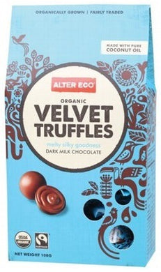 Alter Eco Organic Velvet Truffles - Dark Milk Chocolate 108g