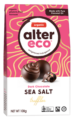 Alter Eco Organic Sea Salt Truffles - Dark Chocolate 108g