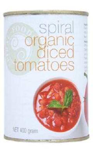 Spiral Foods Organic Diced Tomatoes (BPA Free Can) 400g