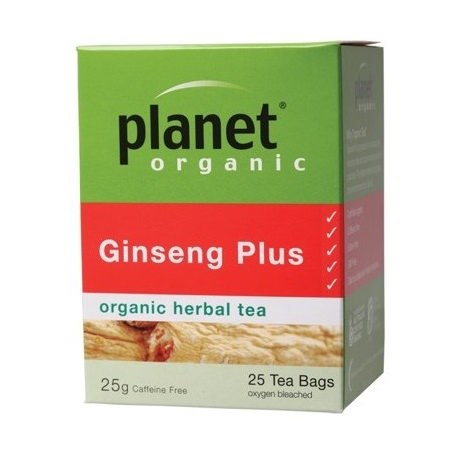 Planet Organic Ginseng Plus Tea Bags 25 bags/25g