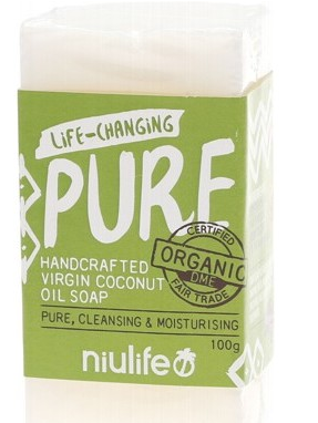 Niulife Organic Virgin Coconut Oil Soap - Pure (100g)